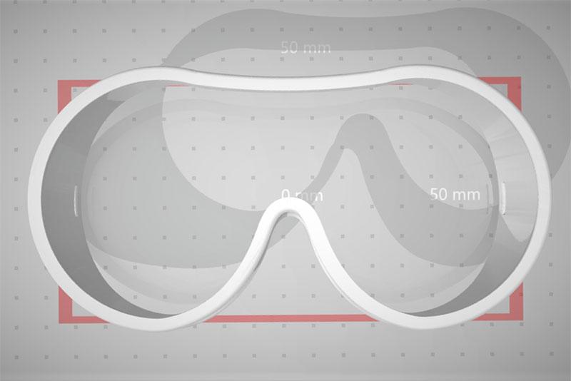 3D-Drucker Vorlage Schutzbrille