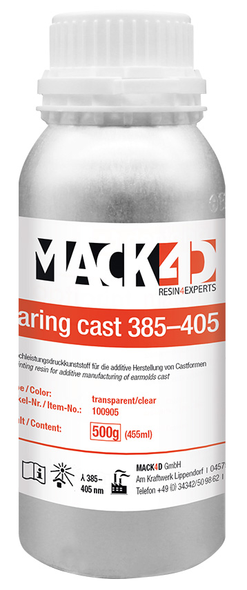 MACK4D- hearing cast 385-405 nm